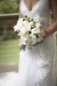 Gorgeous Wedding Bouquet of white peonies